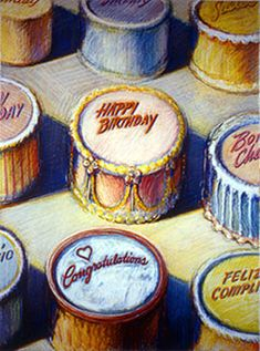 """Celebration Cakes,"" by Wayne Thiebaud"