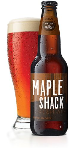 Granville Island Brewing | Maple Shack Cream Ale-It's roasted. Caramel malt flavours go well with all kinds of roasted meat flavours. Perfect pairings: Roast beef or BBQ ribs.