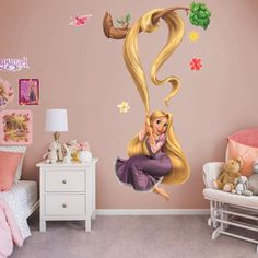 Put your passion on display with a giant Rapunzel: Tree Branch - Life-Size Officially Licensed Disney Removable Wall Decal Fathead wall decal! Disney Themed Rooms, Disney Bedrooms, Rapunzel Room, Disney Wall Murals, Android Phone Wallpaper, Removable Wall Decals, Little Girl Rooms, Room Themes, Tree Branches