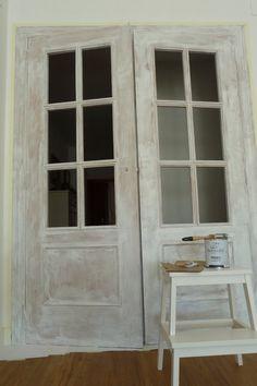 Home Furniture Bedroom Vintage Furniture, Home Furniture, Door Design Interior, Chalk Paint Colors, Shabby, House Stairs, Vintage Diy, Painted Doors, Diy Door