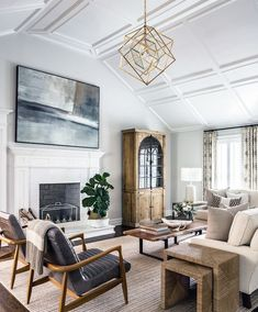 My Living Room, Home And Living, Living Room Decor, Small Living, Living Room Chandeliers, Family Room Chandelier, Transitional Living Rooms, Transitional House, Plywood Furniture
