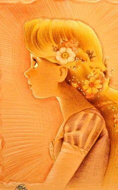 Repunzel golden and beautiful.