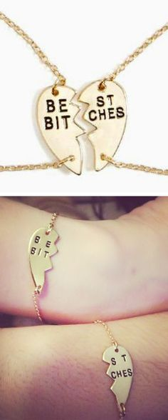 Best Friends Bracelets ღ #bff I would have to buy like three of these one for my sister who my #1 bitch, and one for each of my other two bitches lol