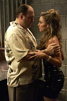 The Sopranos - Season 5 - James Gandolfini as Tony, Drea de Matteo as Adriana