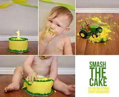 Cake smash | one year old | john deere themed | myra stone photography