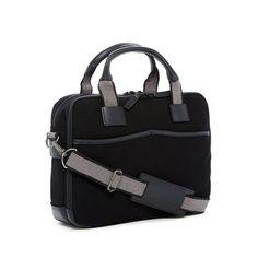 Canvas // Double Entry Top Zip Briefcase (Black)