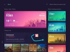 "via Muzli design inspiration. ""Weekly Inspiration for Designers is published by Muzli in Muzli - Design Inspiration. Layout Design, Web Layout, Banner Design, App Design, Flat Design, Website Header Design, Gnu Linux, Travel Planner, Trip Planner"