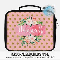 Lunch Bag Monogram Personalized Insulated
