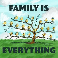 Family is Everything Woodstock Snoopy, Snoopy Love, Charlie Brown And Snoopy, Peanuts Quotes, Snoopy Quotes, Cute Quotes, Great Quotes, Inspirational Quotes, Fabulous Quotes