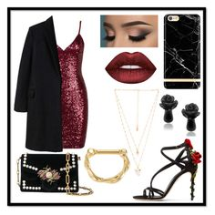 """""""Untitled #387"""" by queen-beanie ❤ liked on Polyvore featuring Dolce&Gabbana, MANGO, Natalie B, Lime Crime, Hot Topic, Richmond & Finch and Proenza Schouler"""