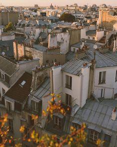 Beautiful Paris from Paris, Paris rooftops, Paris sunset, Parisian life. Paris Rooftops, Little Paris, Aesthetic Pictures, The Places Youll Go, Paris Skyline, Travel Photography, Beautiful Places, Scenery, Instagram