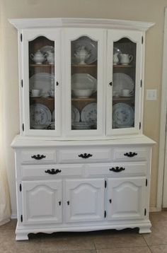 The Junk House hutch after-creamy white, shelves natural, Rustoleum bronze hardware