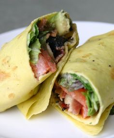 I decided to adapt the Paleo crepe recipe I used here to make a savory crepe that could be used in place of a tortilla for breakfast wraps. Instead of a fruit filling, I made a Paleo BLT-inspired wrap, plus mushrooms and avocado!  Ingredients:  Makes...