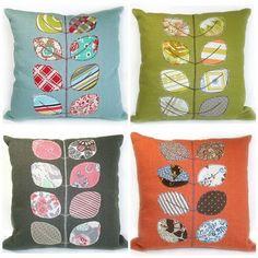 RobinsEggBlue: New linen applique cushions...
