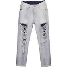 Yoins Mom Jeans With All Over Rips & Distressing Detail (105 RON) ❤ liked on Polyvore featuring jeans, yoins, pants, black, destroyed jeans, distressed skinny jeans, destructed skinny jeans, destroyed skinny jeans and torn jeans