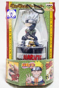 RARE Naruto Kakashi Hatake Kuchiyose no Jutsu Stamp Key Chain Holder JAPAN ANIME