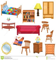 Illustration about Vector set of furniture for living room and bedroom, isolated on a white background. Illustration of house, furniture, living - 32487432 Space Furniture, Living Room Furniture, Home Furniture, Furniture Sets, Kids Living Rooms, Living Room Sets, Living Room Bedroom, House Clipart, Paper Doll House