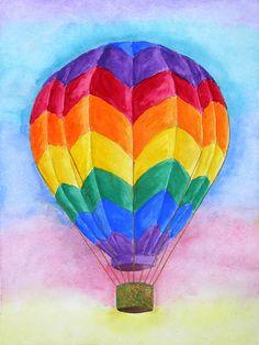 Runaway Balloon Limited Edition Fine Art Hot Air Ride by Melissa Davis