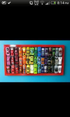 Matchbox cars wall art!