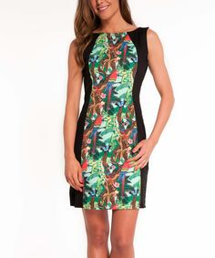 Another great find on #zulily! Almatrichi Green Jungle Sheath Dress by Almatrichi #zulilyfinds