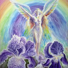Iris, the rainbow goddess