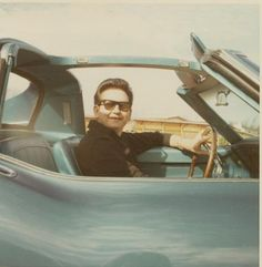 Roy Orbison in one of his many cars