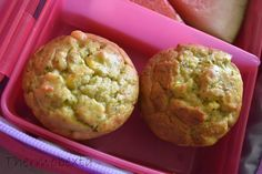 Thermobexta's Cheesy Lunch Box Muffins Savory Muffins, Savory Snacks, Savoury Baking, Lunch Box Recipes, Convenience Food, Eating Habits, Food Videos, Yummy Food, Tasty