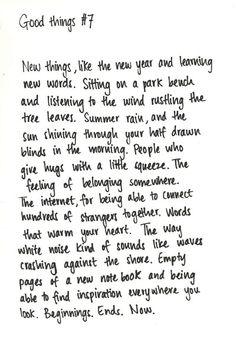 good things #7