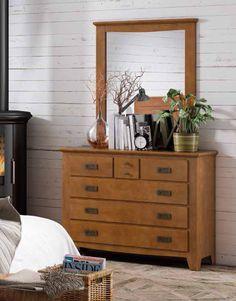 C moda con 7 cajones y realizada en madera de cerezo - Modelos de comodas para dormitorio ...