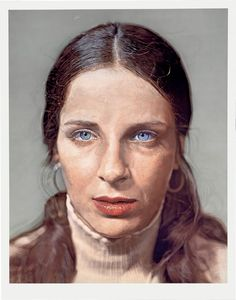 watercolor on paper on canvas by Chuck Close, Photo by: Ellen Page Wilson