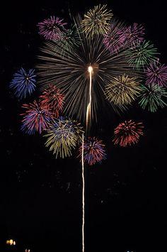 Japanese fireworks, Nagaoka, Japan.