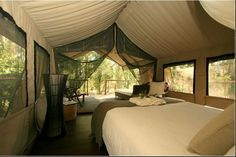 Glamping in a Deluxe Safari tent - Private room - Jervis Bay Glamping, Tent Camping, Wall Tent, Hotels, Standing Bath, Luxury Accommodation, Safari, Outdoor Living, Beautiful Places