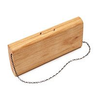 WOODEN CLUTCH - I think this is so fun and quirky. Stylish alternative to the typical black, satin clutch.