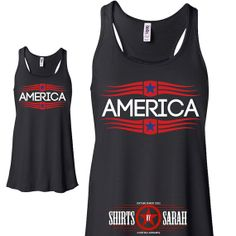 94367abcaf3a8 Items similar to 4th July Tank Top - America Independence Day Women s Flowy  Tanks - Summer Tops on Etsy