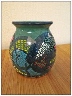Colorful Upcycled Vintage Vase by HistoriaAnimalium on Etsy