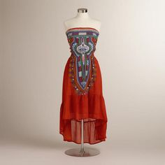 Red and Blue Lalita Dress from World Market. Bought this dress this weekend :)