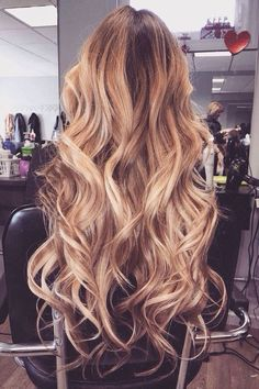 Beautiful hair color, waves,  & length #hairextensions #tomybsalon http://tomybsalon.com/best-hair-extensions-in-the-long-island-area/