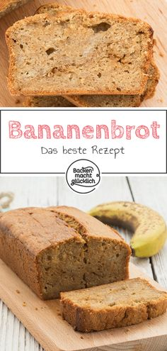 Bananenbrot (Banana Bread) This delicious banana bread is incredibly juicy and tastes like caramel. The banana bread is the perfect remnant for overripe bananas! If you like, add chocolate or nut bits to the banana bread dough. Best Banana Bread, Banana Bread Recipes, Baking Recipes, Cake Recipes, Lasagna Recipes, Lasagna Soup, Dessert Bread, Food Cakes, Homemade Cakes