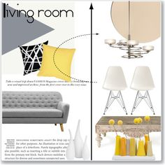 Living room by andreastoessel on Polyvore featuring polyvore interior interiors interior design home home decor interior decorating Pillow Decor Dot & Bo Mitchell Gold + Bob Williams Kichler living room
