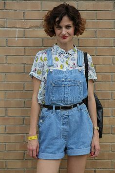 Street Style: Sónar 2014 Overall Shorts, Overalls, Street Style, Women, Fashion, Outfits, Style, Moda, Urban Style