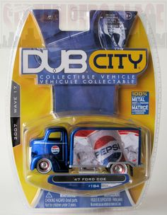 Jada Dub City '47 Ford COE PEPSI Delivery Truck Jada Toys, Vintage Hot Wheels, Matchbox Cars, S Car, Vintage Models, Toy Trucks, Pepsi, Big Kids, Diecast
