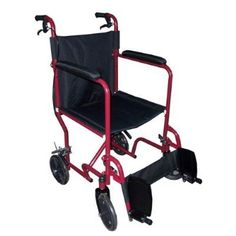 MedMobile 18 Transport Folding Wheelchair with Dual Handbrakes and Drop Back Handles by MedMobile -- Clicking on the VISIT button will lead you to find similar product