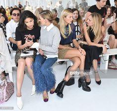 Caroline Issa Olivia Palermo Jessica Hart and Lauren Santo Domingo sit front row during Delpozo Front Row September 2016 New York Fashion Weekat Pier...