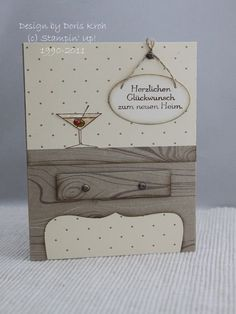 """Cheers to you card by Doris.... table legs made with SU's """"Top Note"""".... (aka the end of a label image)"""