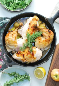 Honey Glazed Apple Roast Chicken