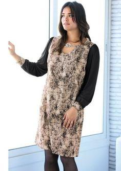 Šaty s potlačou hadej kože #ModinoSK #Plussize
