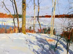 Really shows the bright colors you see in stark winter sunlight - Peter Fiore Landscape Painting