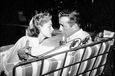 Humphrey Bogart and Lauren Bacall at home, circa 1948.
