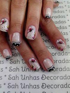 Para quem usa unhas curtas, vejam 28 modelos lindos de unhas decoradas!! 89 Fotos de Unhas Curtas Decoradas ACESSE AGORA AO MELHOR CURSO DE MANICURE, PREÇO ESPECIAL SOMENTE HOJE ((CLIQUE AQUI)) Crazy Nail Designs, Gel Nail Designs, One Stroke Nails, French Nail Art, Crazy Nails, Manicure And Pedicure, Toe Nails, Summer Nails, Pretty Nails
