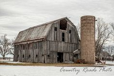 Weathered Barn in Bartholomew County, Indiana. Country Barns, Country Roads, Country Living, Watercolor Barns, Old Bridges, Barn Photography, Old Wagons, Water Mill, Beautiful Buildings